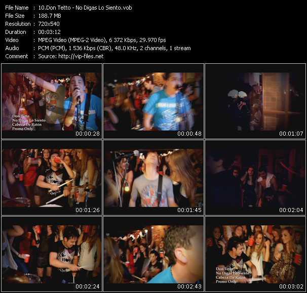Don Tetto video screenshot