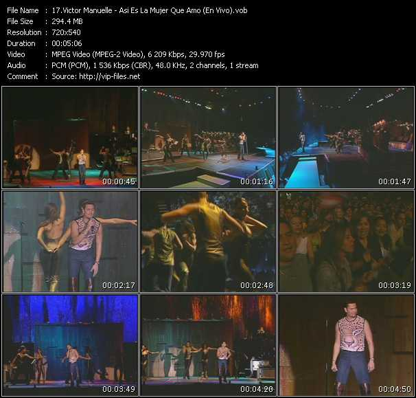 Victor Manuelle video screenshot