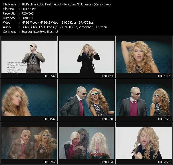 Paulina Rubio Feat. Pitbull video screenshot