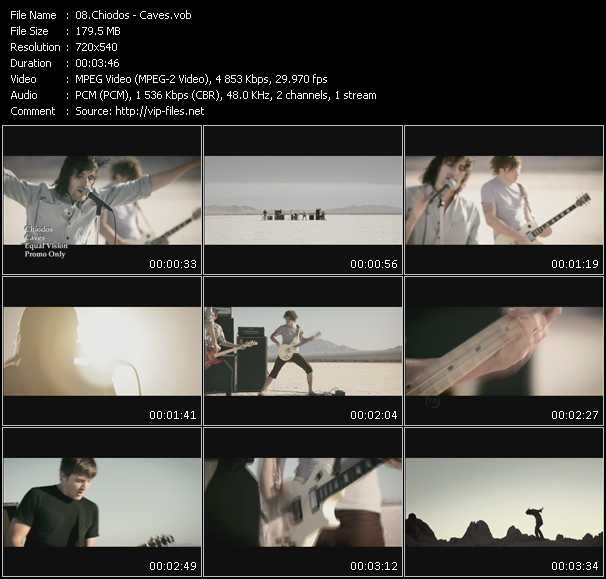 Chiodos video screenshot