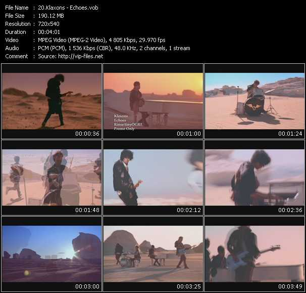 Klaxons video screenshot