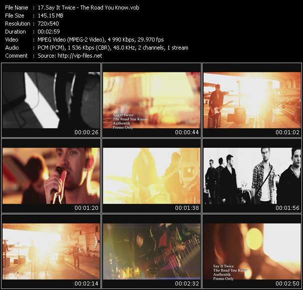 Say It Twice video screenshot