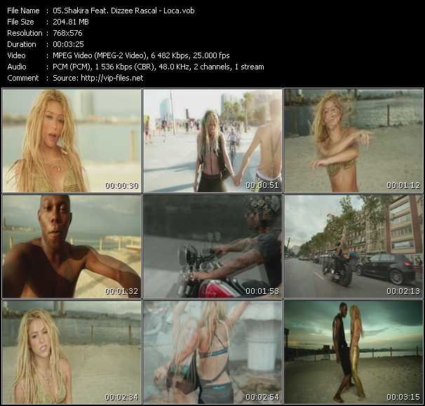 Shakira Feat. Dizzee Rascal video screenshot