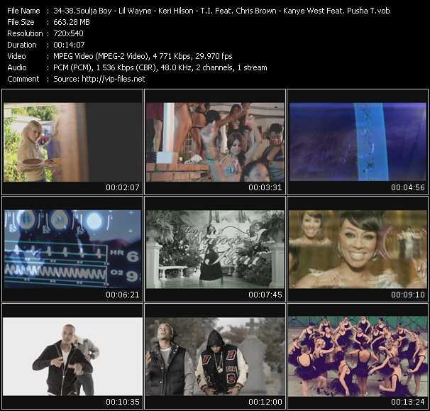 Soulja Boy Tell 'Em - Lil' Wayne - Keri Hilson - T.I. Feat. Chris Brown - Kanye West Feat. Pusha T video screenshot
