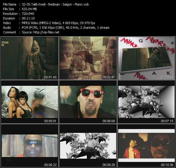 Talib Kweli - Redman - Saigon - Mann video screenshot