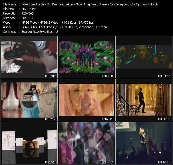 Joell Ortiz - Dr. Dre Feat. Snoop Dogg And Akon - Nicki Minaj Feat. Drake - Cali Swag District - Cypress Hill video screenshot
