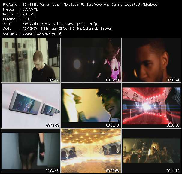 Mike Posner - Usher - New Boyz Feat. The Cataracs And Dev - Far East Movement Feat. Natalia Kills And Ya Boy - Jennifer Lopez Feat. Pitbull video screenshot