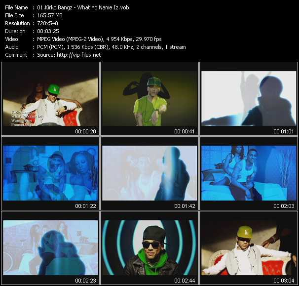 Kirko Bangz video screenshot