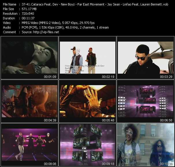 Cataracs Feat. Dev - New Boyz Feat. The Cataracs And Dev - Far East Movement Feat. Snoop Dogg - Jay Sean Feat. Lil' Wayne - Lmfao Feat. Lauren Bennett And GoonRock video screenshot
