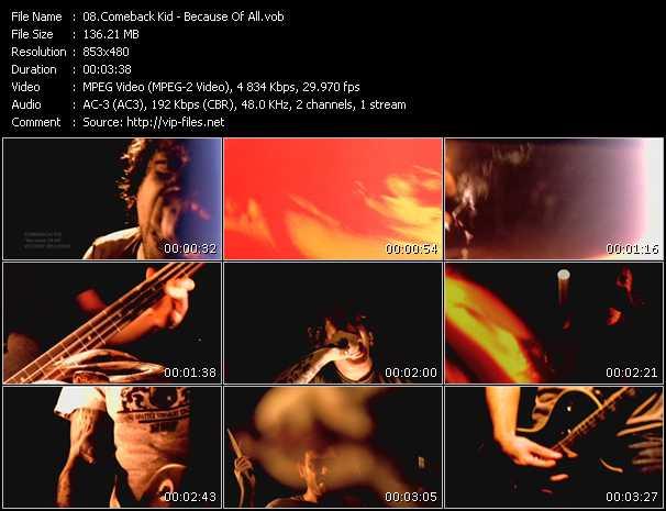 Comeback Kid video screenshot