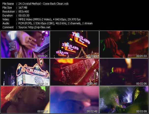 Crystal Method video screenshot