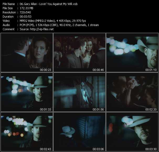 Gary Allan video screenshot