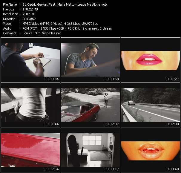Cedric Gervais Feat. Maria Matto video screenshot