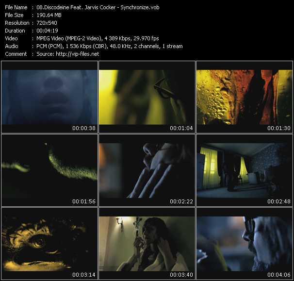 Discodeine Feat. Jarvis Cocker video screenshot