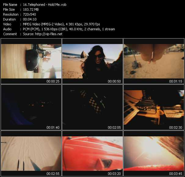 Telephoned video screenshot