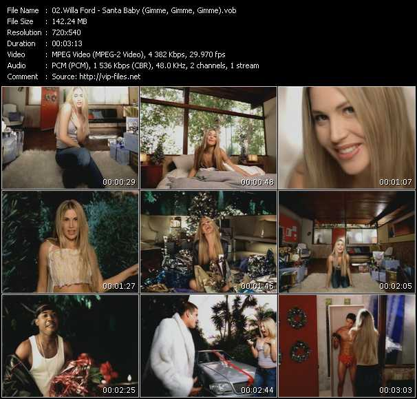 Willa Ford video screenshot