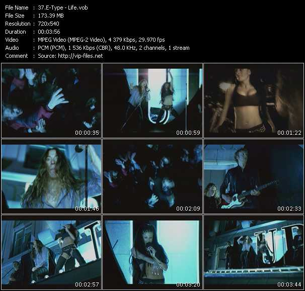 E-Type video screenshot