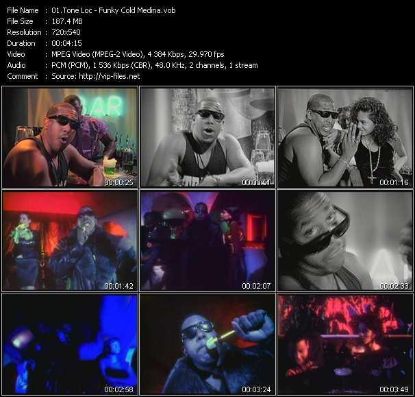 video Funky Cold Medina screen