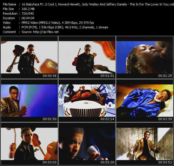 Babyface Feat. Ll Cool J, Howard Hewett, Jody Watley And Jeffery Daniels video screenshot