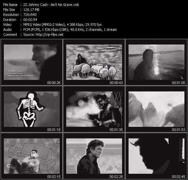 Johnny Cash video screenshot