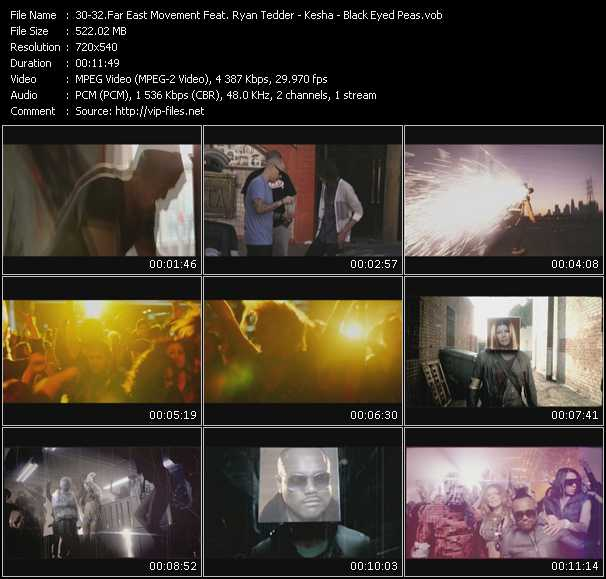 Far East Movement Feat. Ryan Tedder - Kesha - Black Eyed Peas video screenshot