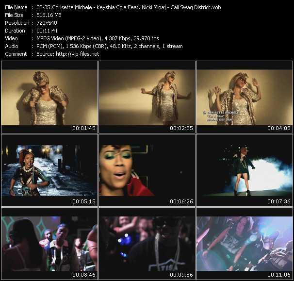 Chrisette Michele - Keyshia Cole Feat. Nicki Minaj - Cali Swag District video screenshot
