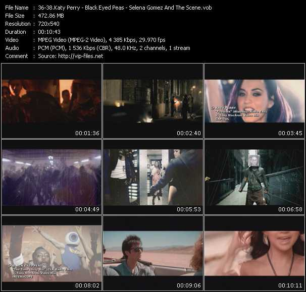 Katy Perry - Black Eyed Peas - Selena Gomez And The Scene video screenshot