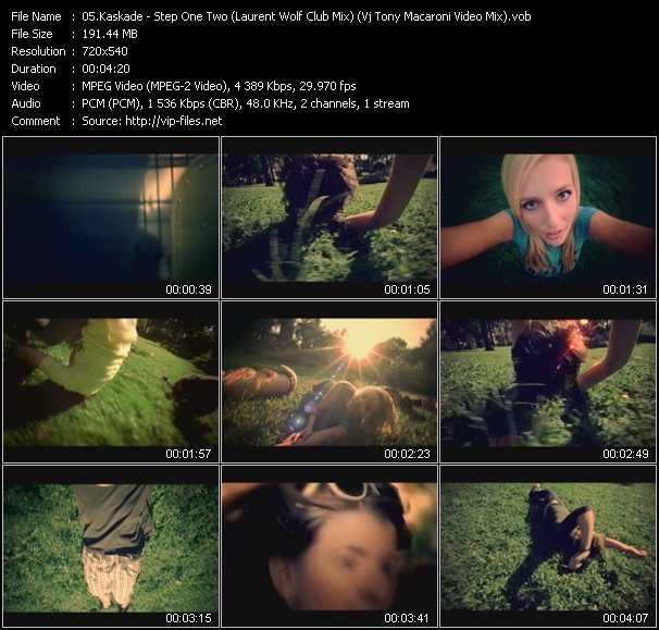 video Step One Two (Laurent Wolf Club Mix) (Vj Tony Macaroni Video Mix) screen
