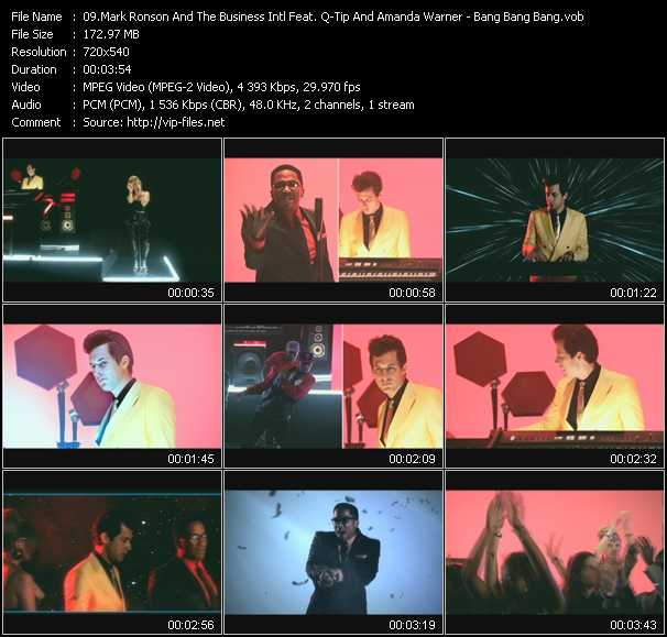 Mark Ronson And The Business Intl Feat. Q-Tip And Amanda Warner video screenshot
