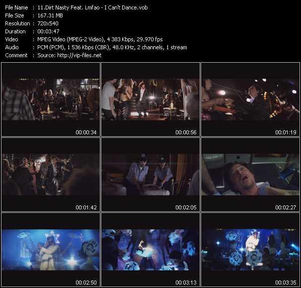 video I Can't Dance screen