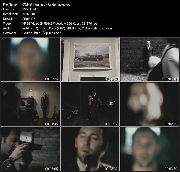 Mat Kearney video screenshot
