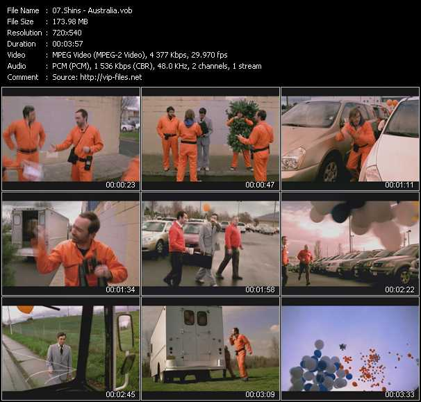 Shins video screenshot
