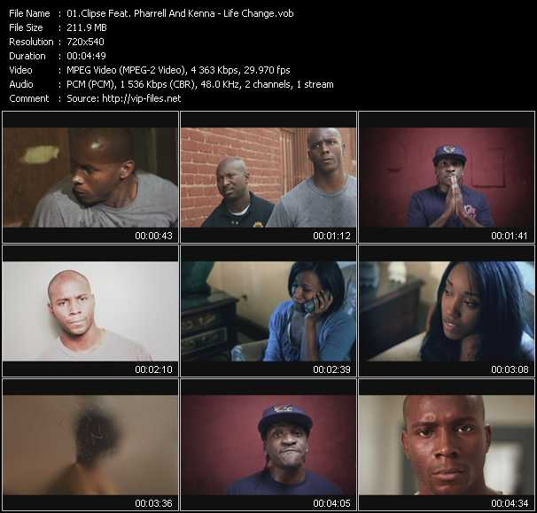 Clipse Feat. Pharrell Williams And Kenna video screenshot