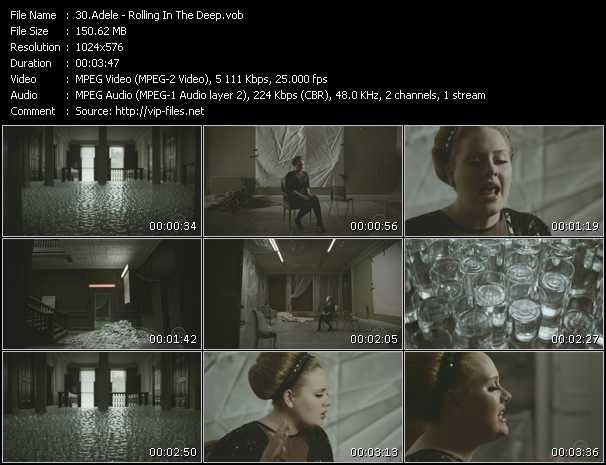 Adele video screenshot
