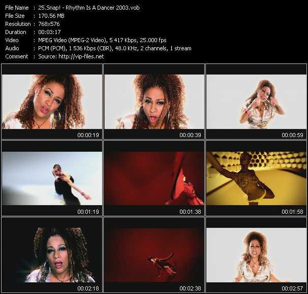 video Rhythm Is A Dancer 2003 screen