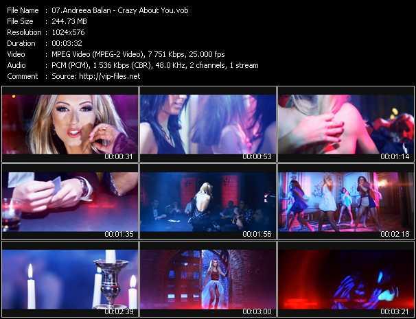 Andreea Balan video screenshot