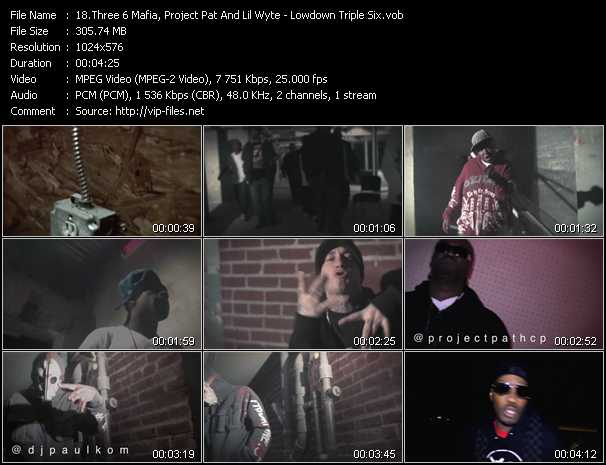 Three 6 Mafia, Project Pat And Lil' Wyte video screenshot