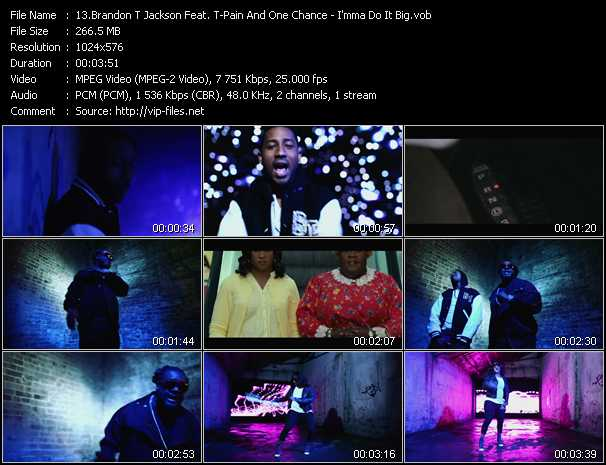 Brandon T Jackson Feat. T-Pain And One Chance video screenshot