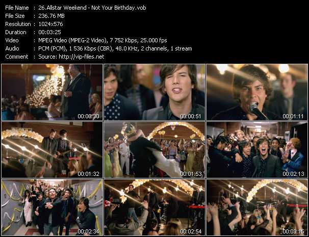Allstar Weekend video screenshot