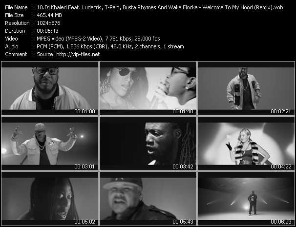 Dj Khaled Feat. Ludacris, T-Pain, Birdman, Ace Hood, The Game, Twista, Busta Rhymes, Mavado, Fat Joe, Bun B, Jadakiss And Waka Flocka Flame video screenshot