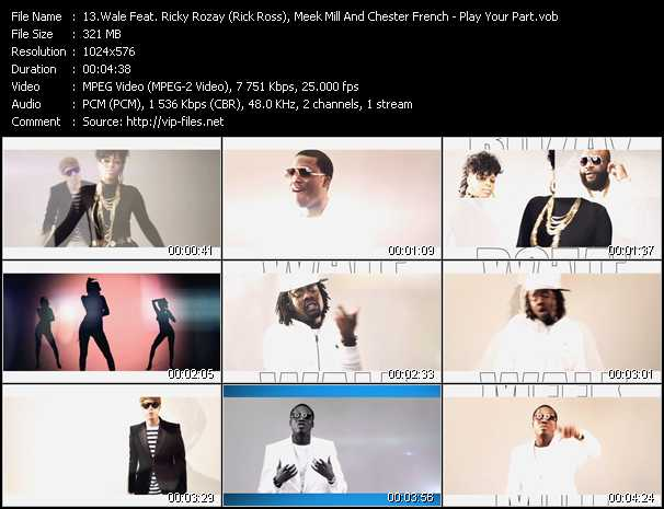 Wale Feat. Ricky Rozay (Rick Ross), Meek Mill And Chester French video screenshot