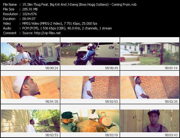 Slim Thug Feat. Big Krit And J-Dawg (Boss Hogg Outlawz) video screenshot