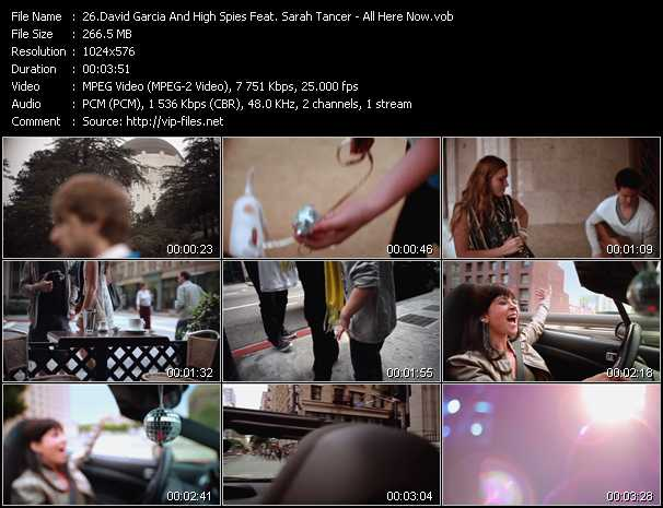 David Garcia And High Spies Feat. Sarah Tancer video screenshot