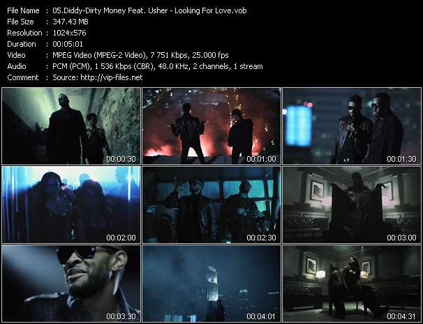Diddy - Dirty Money Feat. Usher video screenshot