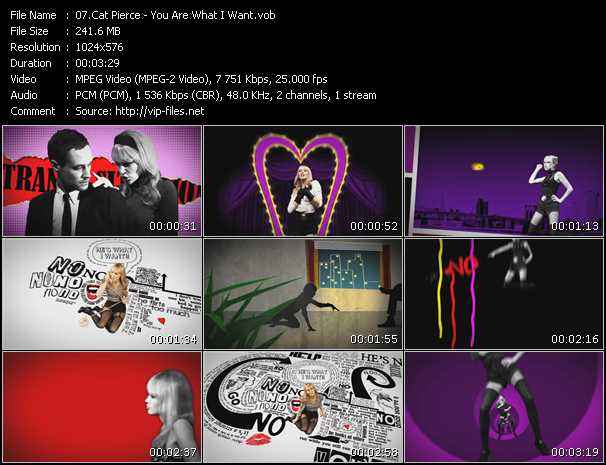 Cat Pierce video screenshot