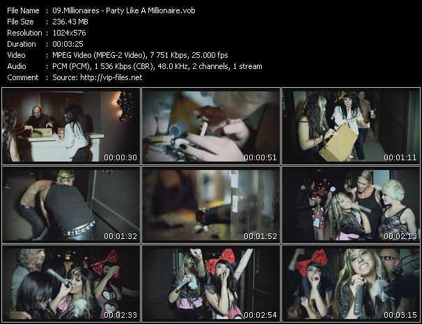 Millionaires video screenshot