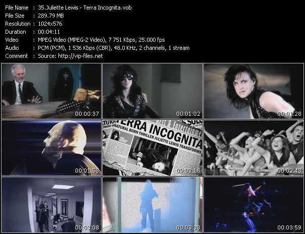 Juliette Lewis video screenshot