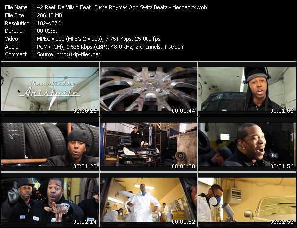 Reek Da Villain Feat. Busta Rhymes And Swizz Beatz video screenshot