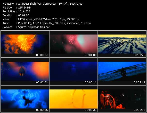 Roger Shah Pres. Sunlounger video screenshot