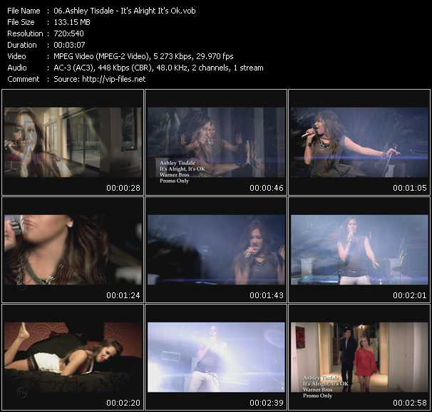 Ashley Tisdale video screenshot